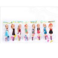 Кукла 8 видов с набором в пакете 25см