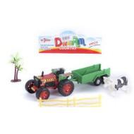 Трактор с прицепом и набором 14*12*7